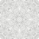 Γραπτό mandala Ενήλικο σχέδιο σελίδων βιβλίων χρωματισμού Στοκ Εικόνα