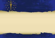 Γρατσουνισμένη η Ιντιάνα σημαία Στοκ Εικόνες
