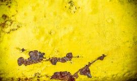 Γρατσουνισμένη κίτρινη σύσταση μετάλλων Στοκ φωτογραφίες με δικαίωμα ελεύθερης χρήσης