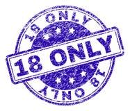 Γρατσουνισμένη κατασκευασμένη ΜΟΝΟ σφραγίδα γραμματοσήμων 18 Διανυσματική απεικόνιση