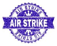 Γρατσουνισμένη κατασκευασμένη σφραγίδα γραμματοσήμων ΑΠΕΡΓΊΑΣ AIR με την κορδέλλα διανυσματική απεικόνιση