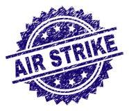 Γρατσουνισμένη κατασκευασμένη σφραγίδα γραμματοσήμων ΑΠΕΡΓΊΑΣ AIR διανυσματική απεικόνιση