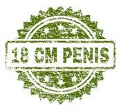 Γρατσουνισμένη κατασκευασμένη σφραγίδα γραμματοσήμων ΠΕΏΝ 18 εκατ. Ελεύθερη απεικόνιση δικαιώματος