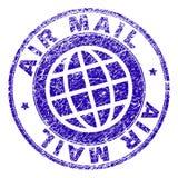 Γρατσουνισμένη κατασκευασμένη σφραγίδα γραμματοσήμων ΤΑΧΥΔΡΟΜΕΊΟΥ AIR διανυσματική απεικόνιση