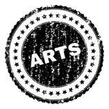 Γρατσουνισμένη κατασκευασμένη σφραγίδα γραμματοσήμων ΤΕΧΝΩΝ ελεύθερη απεικόνιση δικαιώματος