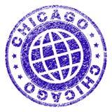 Γρατσουνισμένη κατασκευασμένη σφραγίδα γραμματοσήμων του ΣΙΚΑΓΟΥ ελεύθερη απεικόνιση δικαιώματος