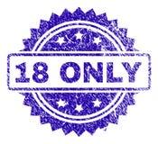 Γρατσουνισμένη ΜΟΝΟ σφραγίδα γραμματοσήμων 18 Απεικόνιση αποθεμάτων