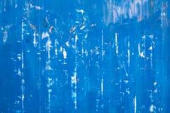 Γρατσουνισμένη μπλε μεταλλική σύσταση Στοκ Φωτογραφία