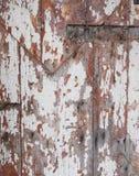 Γρατσουνισμένη ξύλινη λεπτομέρεια πορτών Στοκ φωτογραφία με δικαίωμα ελεύθερης χρήσης