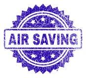 Γρατσουνισμένη σφραγίδα γραμματοσήμων ΑΠΟΤΑΜΊΕΥΣΗΣ AIR ελεύθερη απεικόνιση δικαιώματος