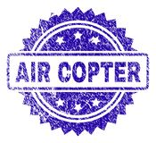 Γρατσουνισμένη σφραγίδα γραμματοσήμων AIR COPTER διανυσματική απεικόνιση