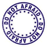 Γρατσουνισμένος κατασκευασμένος ΟΧΙ ΦΟΒΙΣΜΕΝΗ στρογγυλή σφραγίδα γραμματοσήμων διανυσματική απεικόνιση