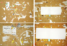 Γρατσουνισμένο έγγραφο για έναν πίνακα φελλού Στοκ φωτογραφία με δικαίωμα ελεύθερης χρήσης