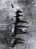 Γρατσουνισμένο μέταλλο που σχίζεται Στοκ Φωτογραφία