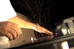 Γρατσούνισμα του DJ Turntableist απόθεμα βίντεο