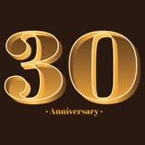 Γραφή, εορτασμός, επέτειος του αριθμού 30 - 30η επέτειος έτους διανυσματική απεικόνιση