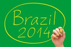 Γραφή της Βραζιλίας 2014 Στοκ εικόνες με δικαίωμα ελεύθερης χρήσης