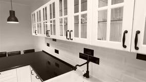 Γραφεία κουζινών, τηλεοπτικός γερανός χρησιμοποιούμενος απόθεμα βίντεο
