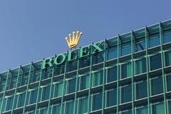 Γραφεία της Rolex και heaquarter στη Γενεύη, Ελβετία Στοκ Εικόνα