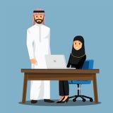 Γραφείο ανθρώπων επιχειρησιακών γυναικών, διανυσματικά κινούμενα σχέδια απεικόνισης characte στοκ φωτογραφίες με δικαίωμα ελεύθερης χρήσης