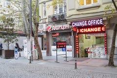 Γραφείο αλλαγής στη Ιστανμπούλ Στοκ εικόνες με δικαίωμα ελεύθερης χρήσης
