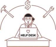 Γραφείο βοήθειας Στοκ εικόνα με δικαίωμα ελεύθερης χρήσης