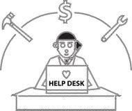 Γραφείο βοήθειας Στοκ Εικόνα