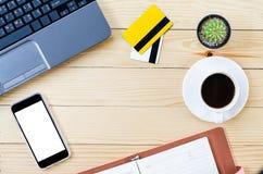 γραφείο γραφείων επιχειρησιακής έννοιας λογιστικής Τοπ όψη Στοκ Εικόνες