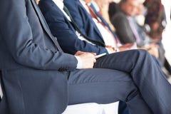 γραφείο διασκέψεων επιχειρησιακών εδρών που απομονώνεται πέρα από το λευκό Εταιρική παρουσίαση Στοκ Εικόνες