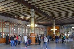 Γραφείο εκδόσεως εισιτηρίων στο βόρειο σταθμό, Βαλένθια, Ισπανία Στοκ Φωτογραφία