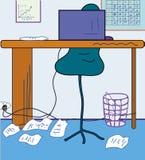 γραφείο κινούμενων σχεδί& διανυσματική απεικόνιση
