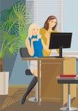 γραφείο κοριτσιών διανυσματική απεικόνιση
