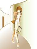 γραφείο κοριτσιών ελεύθερη απεικόνιση δικαιώματος