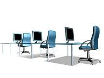 γραφείο μηνυτόρων LCD Στοκ Εικόνα
