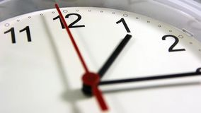 Γραφείο, σπίτι, ή ρολόι σχολικών τοίχων απόθεμα βίντεο