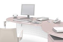 Γραφείο - στο λευκό Στοκ εικόνες με δικαίωμα ελεύθερης χρήσης