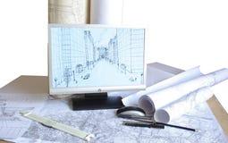 Γραφείο του αρχιτέκτονα Στοκ Φωτογραφίες