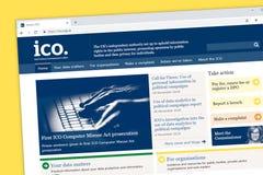 Γραφείο του Επιτρόπου πληροφοριών ICO του Ηνωμένου U Κ αρχική σελίδα ιστοχώρου διανυσματική απεικόνιση