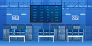 Γραφείο του οικονομικού ελέγχου του εσωτερικού χρηματιστηρίου διανυσματική απεικόνιση