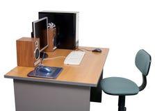 γραφείο υπολογιστών γρ&alp Στοκ φωτογραφία με δικαίωμα ελεύθερης χρήσης