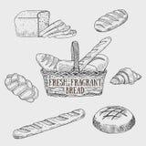 Γραφικά είδη ψωμιού επίσης corel σύρετε το διάνυσμα απεικόνισης Στοκ Φωτογραφίες