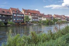 Γραφικά σπίτια στη Βαμβέργη, Γερμανία Στοκ Εικόνες