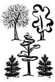 Γραφικά σύμβολα δέντρων Στοκ φωτογραφία με δικαίωμα ελεύθερης χρήσης