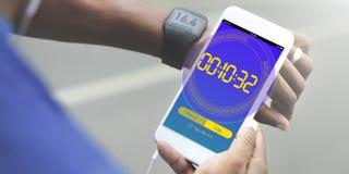 Γραφικές λέξεις χρονικής αντίστροφης μέτρησης ρολογιών χρονομέτρων με διακόπτη Στοκ Εικόνα