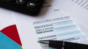 Γραφικές παραστάσεις χρηματιστηρίου οικονομικής λογιστικής δήλωση ανάλυσης απόθεμα βίντεο