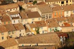 Γραφικές στέγες στο χωριό Carcassonne Γαλλία Στοκ φωτογραφίες με δικαίωμα ελεύθερης χρήσης