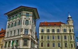 Γραφικής και ιστορικής πόλη της Σλοβενίας, του Λουμπλιάνα Στοκ Φωτογραφία