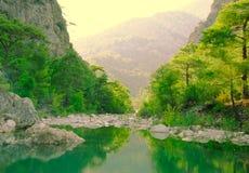 Γραφική άποψη λιμνών βουνών στοκ φωτογραφίες