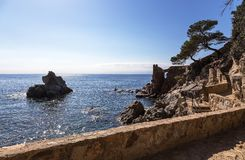 Γραφική άποψη του Κόστα Μπράβα, Ισπανία στοκ εικόνες