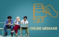 Γραφική έννοια ηλεκτρονικού ταχυδρομείου τεχνολογίας ηλεκτρονικού ταχυδρομείου Στοκ εικόνα με δικαίωμα ελεύθερης χρήσης